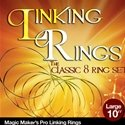 Linking Rings Large 10 Inch Set of 8 Rings with DVD By Magic Makers, Inc.