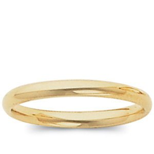 10K Yellow GOLD 02.00 MM HIGH POLISH COMFORT FIT BAND (9)