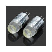 G4 1W 80-Lumen LED Car White Light Bulb (Pair/DC 12V)