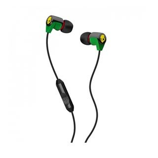Skullcandy Riff In-Ear Headsets With Mic 1 For Phones - Retail Packaging - Black/Green
