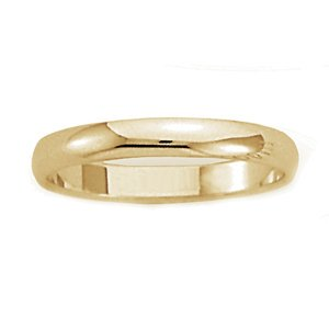 Men's 18k Yellow Gold Domed Comfort-Fit Wedding Band (3.00 mm)