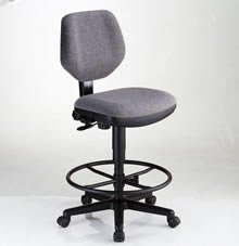 Comfort Classic Deluxe Task Drafting Chair Black