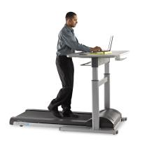 Sturdy, Quiet Treadmill with Electronically Adjustable Table