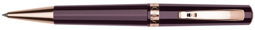 omas-arte-italiana-maroon-rose-gold-trim-ballpoint-pen-o-02c0041