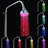 WOMUL LED Color Changing Hand Showerhead Rainbow LED Showers Head Light Bathroom Shower Heads