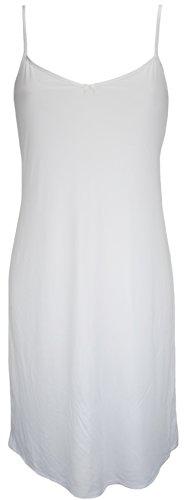 Ex Store V Neck Full Slip White 14 19L