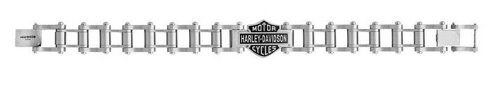 Harley-Davidson Men's Engine Bike Chain Bracelet Steel 7.5 Inch HSB0007/7.5