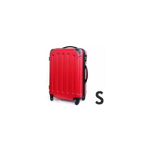 【MOA(モア)】4輪ジッパースーツケース260/Sサイズ(1~3泊目安) (レッド)