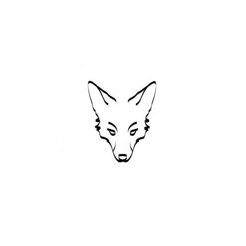 Amazon.com - Fox Face Tattoo, Vinyl Sticker Wall Art Deco - 30cm