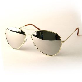 Premium Mirrored Aviator Sunglasses – Gold(3Pack) Special