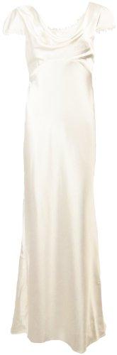 Eliza J New York Women's Lace Trim Satin Gown (18W, Ivory) [Apparel]