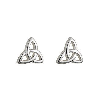 Sterling Silver Celtic Kids Trinity Knot Stud Earrings-Made in Ireland
