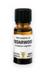 Cedarwood Virginian, Pure Essential Oil. In a 10ml Amber Glass Dropper Bottle by Amphora Aromatics