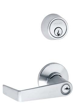 Schlage S251Pd-Sat Entrance Double Locking Interconnected Lock (With Cylinder)