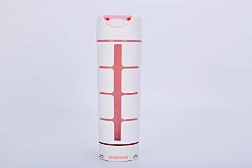 Y2L Simple Home Insulated Sports Water Bottle Speaker 3 in 1, Outdoor/Indoor Bluetooth Speaker Wireless & Camera Snap Shot Sport Bike Water Bottle 18 Oz, Phone Stand 100% BPA-Free, Pink