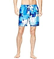 Blue Harbour Photographic Print Quick Dry Swim Shorts