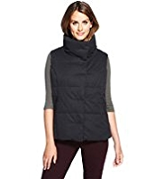 M&S Collection Funnel Neck Padded Gilet