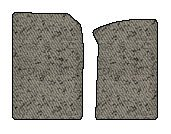 Porsche 911 Berber Floor Mats 2 Pc Fronts - Convertible|Carrera 2 - With Bose Sound - Light Gray (2002 02 2003 03 2004 04 2005 05 ) Amslv13901E28K9