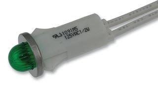 Chicago Miniature Lighting - 1091M5-24V - Led Panel Indicator, Green, 24V