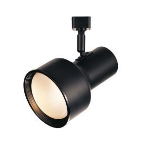 hampton bay r30 cylinder track head light black home garden lighting. Black Bedroom Furniture Sets. Home Design Ideas