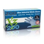 SEOH Nitrile Powder Free Industrial Grade Gloves - Pack of 200 MEDIUM