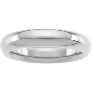 Platinum Heavy Comfort Fit Wedding Band: 4mm - Size 5
