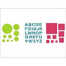 Plaid 28669 Simply Stencil, Circles And Squares front-649421