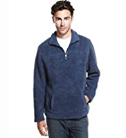 Chenille Half Zip Fleece Top