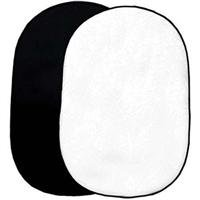 Interfit INT722 Double Sided 5 Feet x 6 Feet 6-Inch Collapsible Background (Black/White)