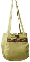 Lantern Moon Mama Haiti Project Bag 7'X5.5'X5.5' Lime And Brown from Lantern Moon, Inc.