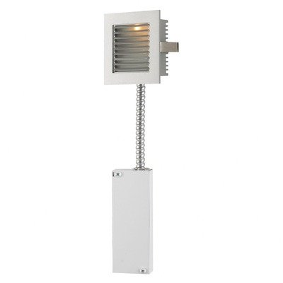 Alico Industries WLE-104WW-RM Main Wall LED Retrofit Recessed Step Light, White Finished Trim with White Finished Louvre
