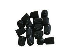 24 X Black Plastic Tire Valve Stem Caps #15301 by SPM