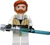 LEGO Star Wars Minifigure - Obi-Wan Kenobi with Lightaber (Clone Wars) - 1