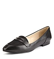 Autograph Leather Penny Loafers