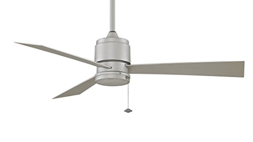 Fanimation FP4640SN-220 54-Inch Zonix Wet Location 3-Blade Ceiling Fan with 220-Volt White Bulb, Satin Nickel (Ceiling Fan Zonix compare prices)