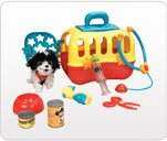 Baby Genius Plush Pet And Carrier Vet Care Set 9 Pieces Musical front-872924