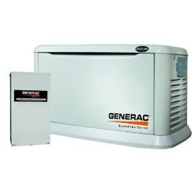 Generac 6244 20KW Aluminum Automatic Standby Generator with 200A Service rated transfer switch. 5 Year Warranty!