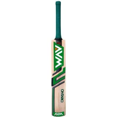Avm Ontario Kashmir Willow Cricket Bat-Green (SH)