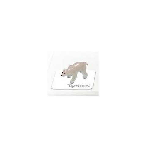 Tynies Animals Snow - Polar Bear * Colors May Vary * Glass Figure