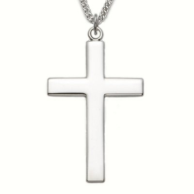 Sterling Silver Cross Necklace  Our Father Lords