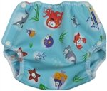 Air Flow Wrap - Nappy Cover - Ocean - Medium