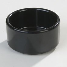 Black Melamine Straight Sided Ramekin 3 Ounce -- 48 per case