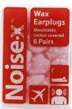 2 X Noise-X Earplugs Wax Cotton 6Pr