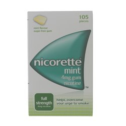 Nicorette Chewing Gum 4mg Mint - 105 Pieces