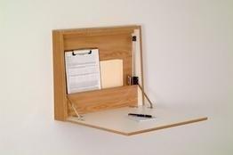 Wooden Mallet Fold-Away Wall Desk (Oak)