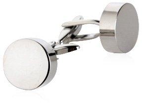 Classic Silver Engravable Cufflinks by Cuff-Daddy