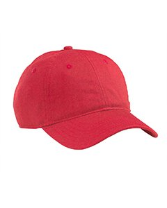 Organic Cotton Twill Unstructured Baseball Hat - Red - Os Organic Cotton Twill Unstructured Baseball Hat front-315305