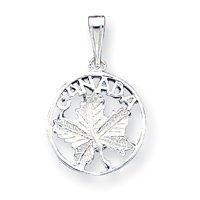 Sterling Silver Canada Charm QC3870