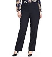 Plus Flat Front Slim Leg Trousers