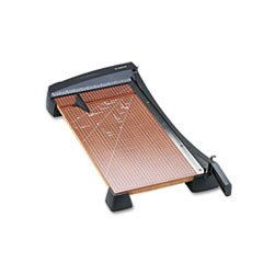** Heavy-Duty Guillotine Paper Trimmer, Wood Base, 12\